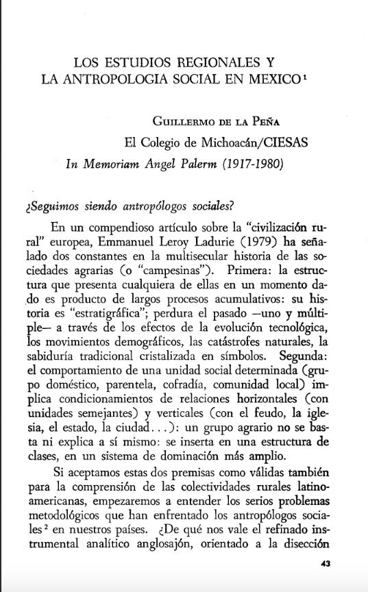 """Ángel Palerm, 1954-55, """"Sistemas agrícolas y desarrollo del área clave del imperio texcocano"""" Revista Mexicana de Estudios Antropológicos, (Sociedad Mexicana de Antropología), Vol. XIV, primera parte, pp. 337-349."""